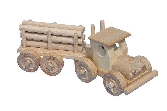 TIR s kládama dřevěná hračka