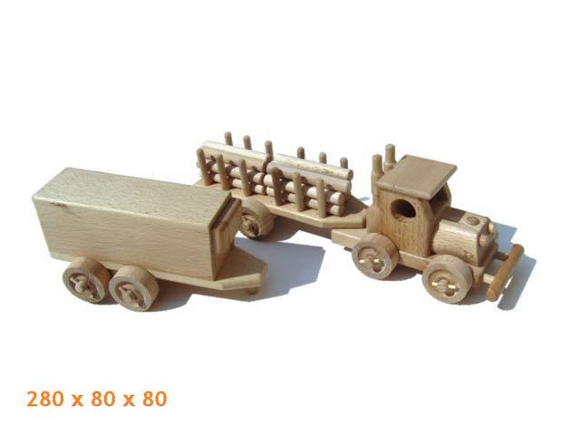 Tahač dřevěná hračka
