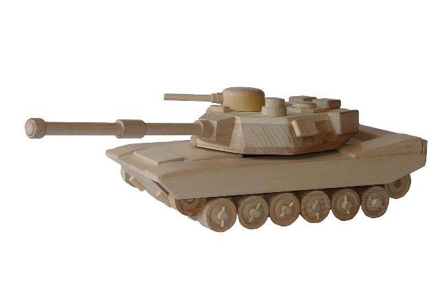Tank americký dřevěná hračka