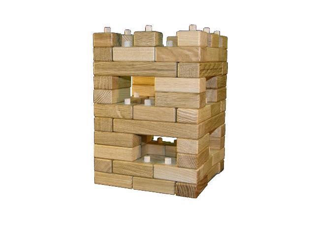 Věž opevněná , dřevěná hračka