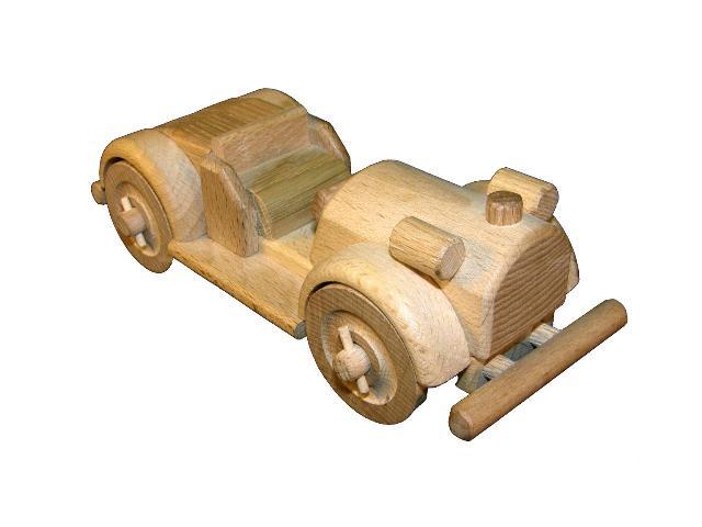 Veterán závodní dřevěná hračka