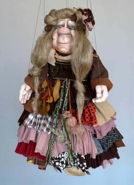 Čarodějnice , loutka marioneta