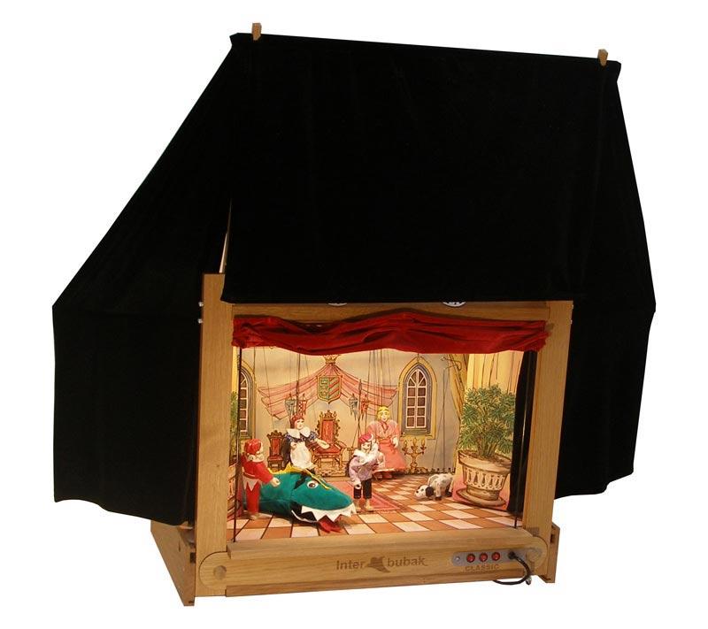 Moderní dřevěné loutkové divadlo
