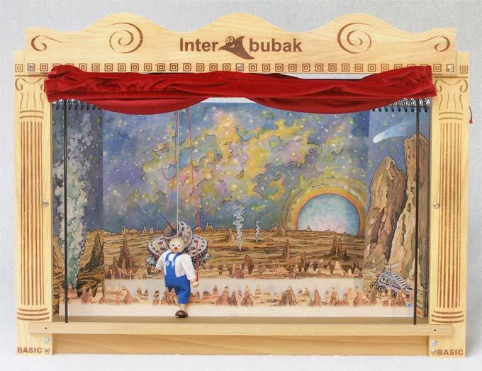 Klasické dřevěné loutkové divadlo s Led osvětlení