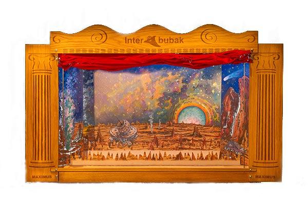Velké dřevěné loutkové divadlo s Led osvětlení